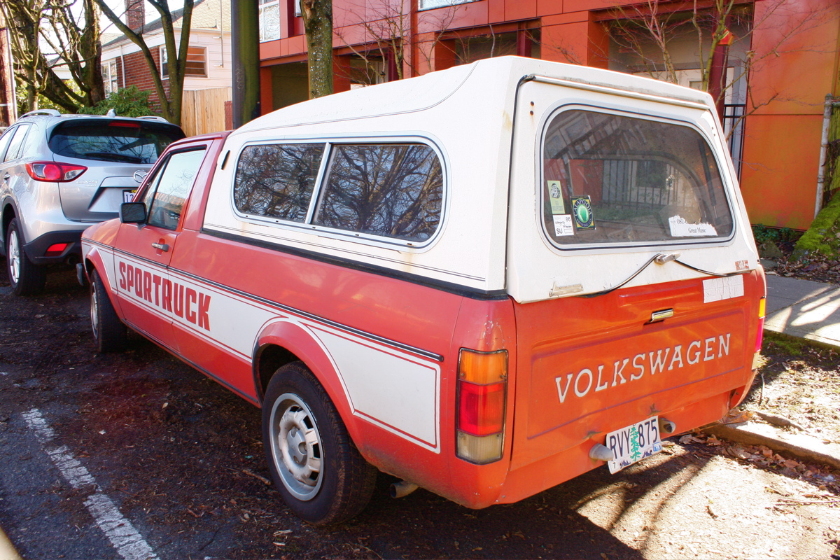 1981 Volkswagen Rabbit Sportruck.