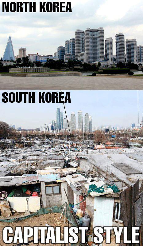 ¿Qué opinan sobre esta imagen? Contraste+Coreia+do+Norte+x+Coreia+do+Sul!