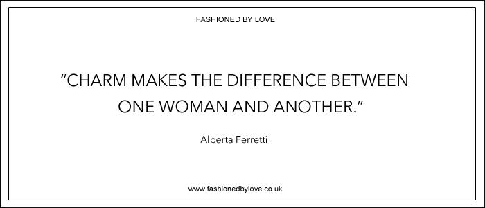via fashioned by love | best fashion & style quotes | Alberta Ferretti