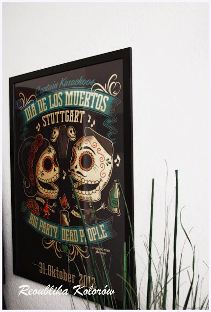 plakat meksykańskie święto zmarłych