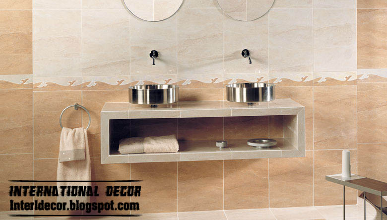 bathroom wall tiles classic design beige ceramic tiles scheme. Interior Design Ideas. Home Design Ideas