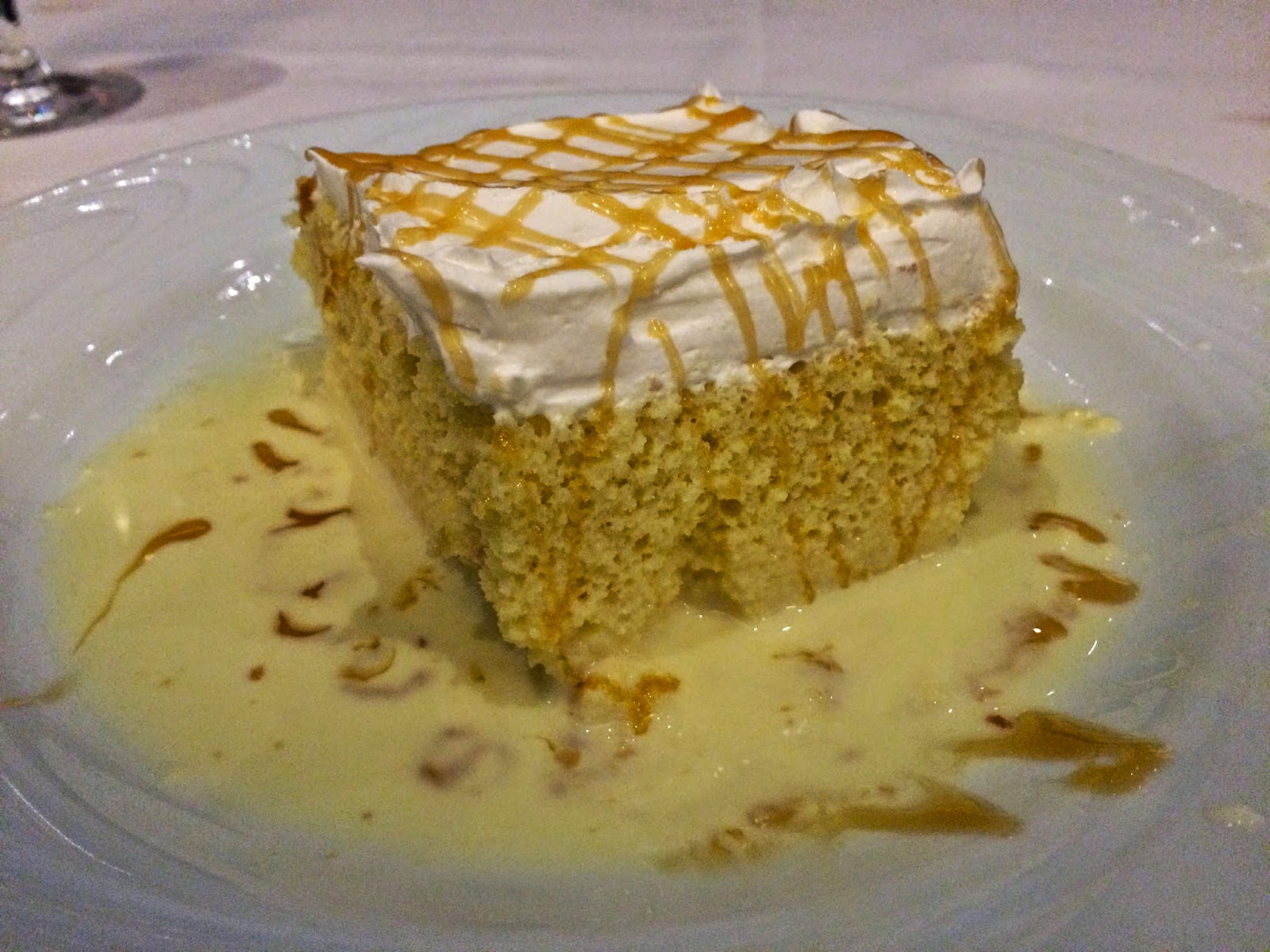 Tres Leches Cake at Fogo de Chao