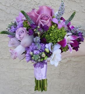 Purple Wedding Flowers Bouquets