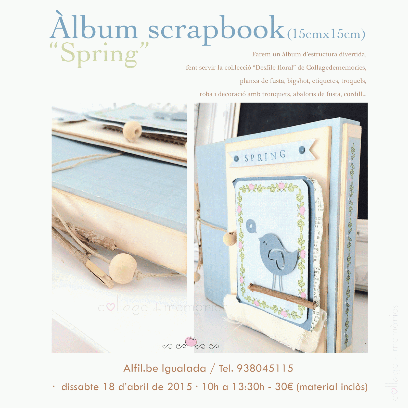 "Taller scrapbook - âlbum ""Spring"" en Alfil.be Igualada"