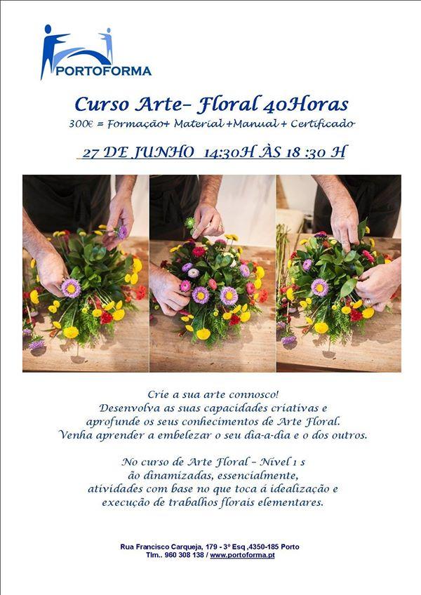 Curso de Arte Floral no Porto