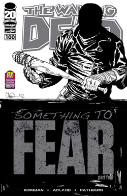 San Diego Comic-Con 2012 Exclusive The Walking Dead #100 Sketch Variant Wraparound Black and White Cover