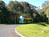 Bus from the visitors center in Iguazu Falls by Mark Fitzgerald
