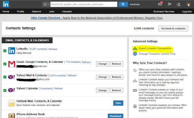 export LinkedIn contact list, export LinkedIn email addresses, exporting LinkedIn contacts