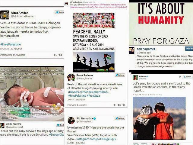 Selebriti Tempatan & Antarabangsa Nyata Sokongan Kepada Gaza