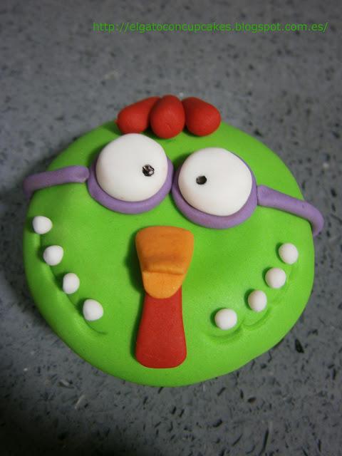 cupcakes gallina con gafas