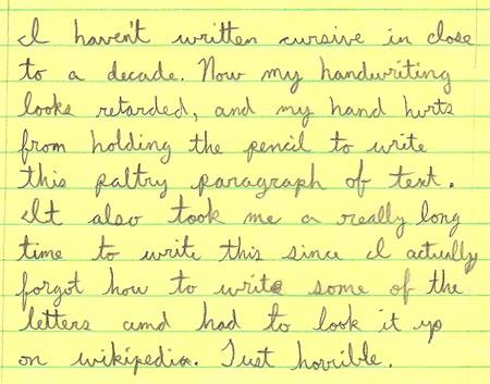 Cursive Handwriting Examples
