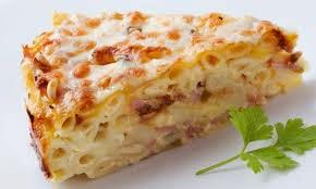 Tallarines Horneados, con Queso y Salsa de Carne