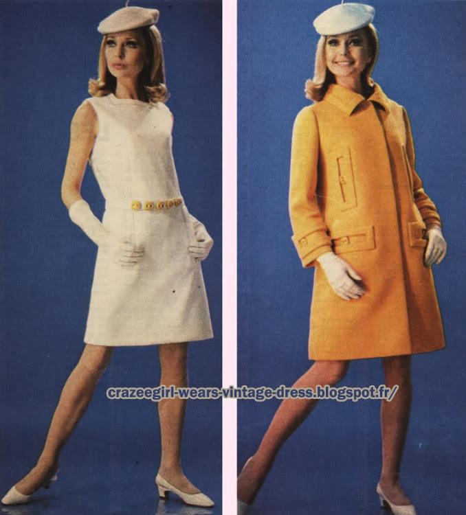 Dress and coat - Castillo - 1967 60s 1960 mod
