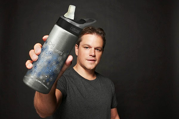 Use a water bottle to fill up from taps suggests Hollywood star Matt Damon