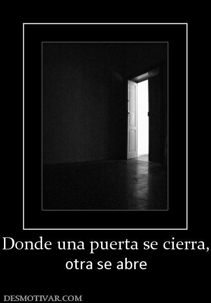So ar es tener un mundo solo para ti marzo 2012 for Puerta que se cierra sola