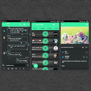 BBM Tema Baru DarkGreen Version 2.9 plus Sticker Gratis