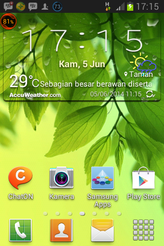Accu Weather Transparent (Odex) For All Tipe Samsung Galaxy