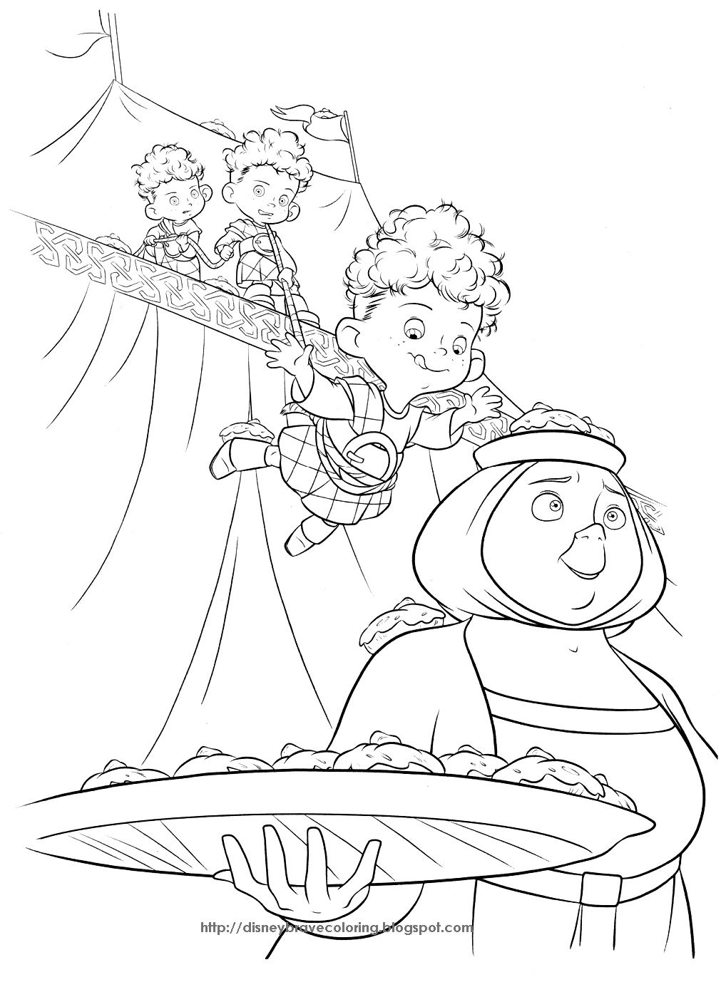 BRAVE MERIDA COLORING PAGES