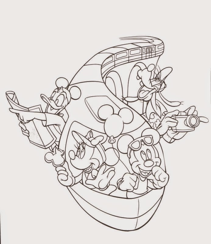 Epcot Coloring Pages Disney Coloring