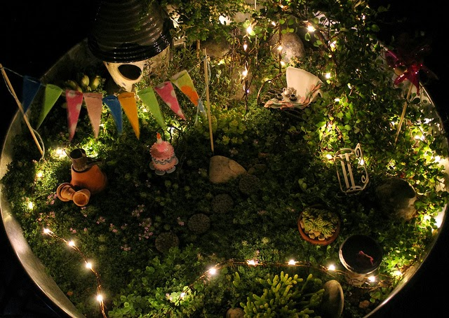 Night Party in the Fairy Garden at A Cuppa Tea With Me