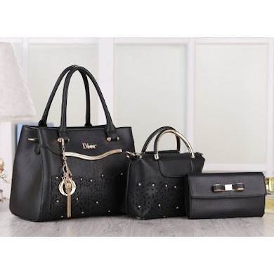 DIOR DESIGNER BAG - BLACK