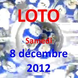 boules du LOTO - - tirage du samedi 8 décembre 2012