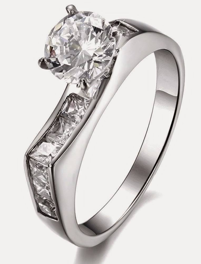 Unique Shaped Womens Wedding Rings White Gold With