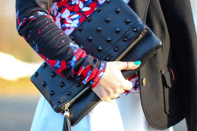 Black Studded Clutch from TJ Maxx