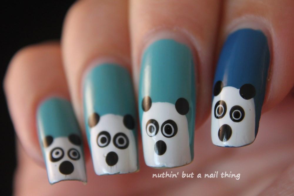 nuthin\' but a nail thing: Panda Nail Art
