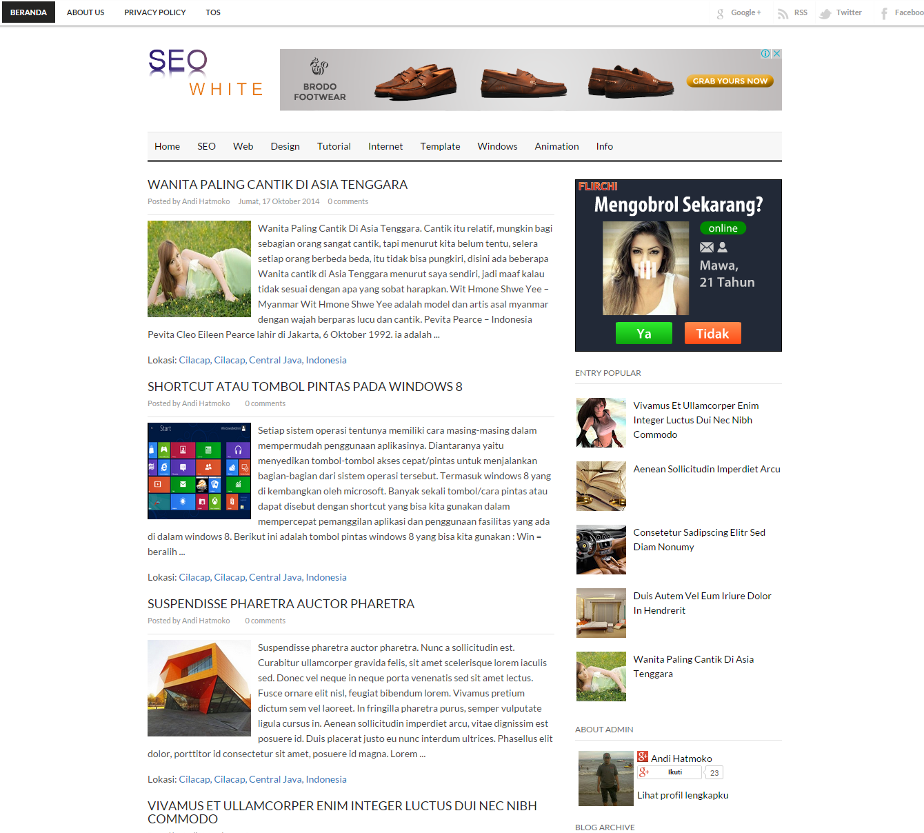 seo white blog templates