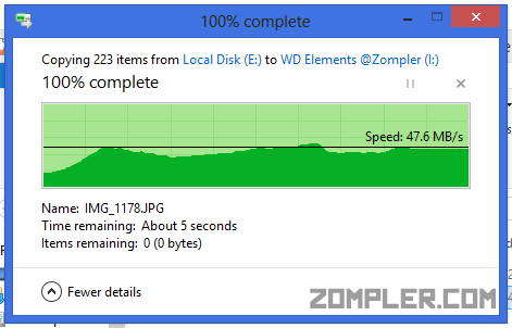 WD elements transfer speed