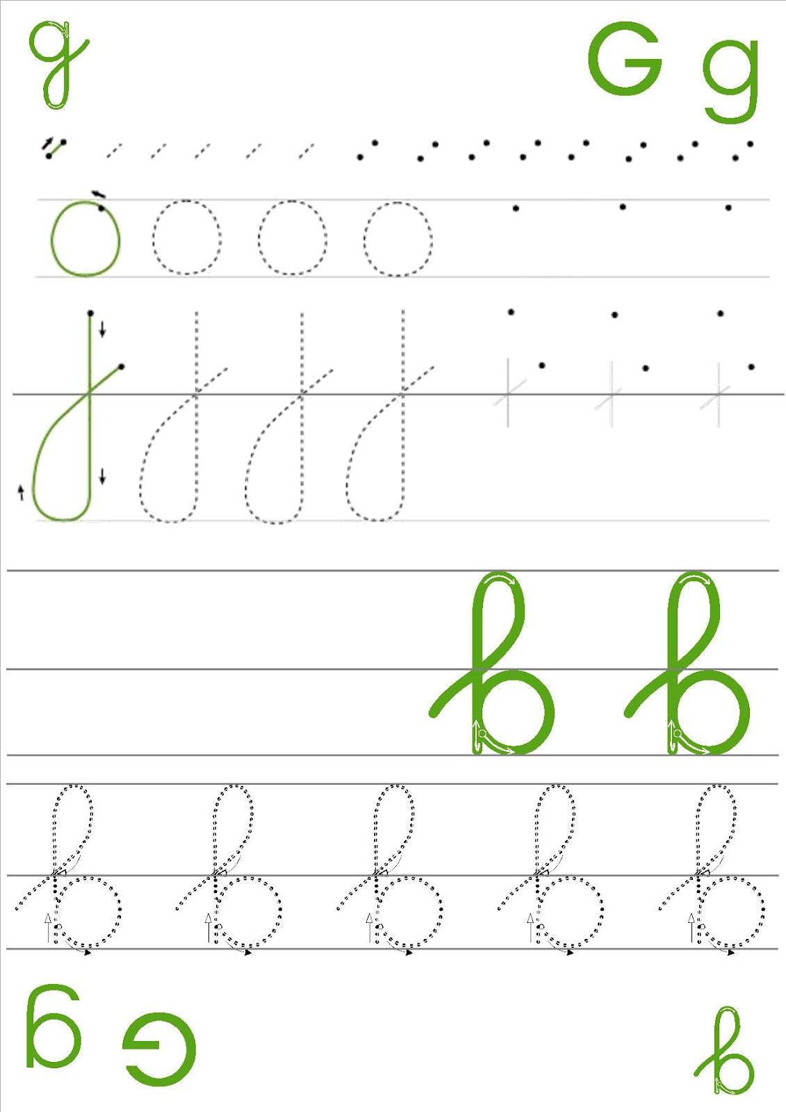 la maternelle de laur u00e8ne  fiches  u00e9criture des lettres en cursive