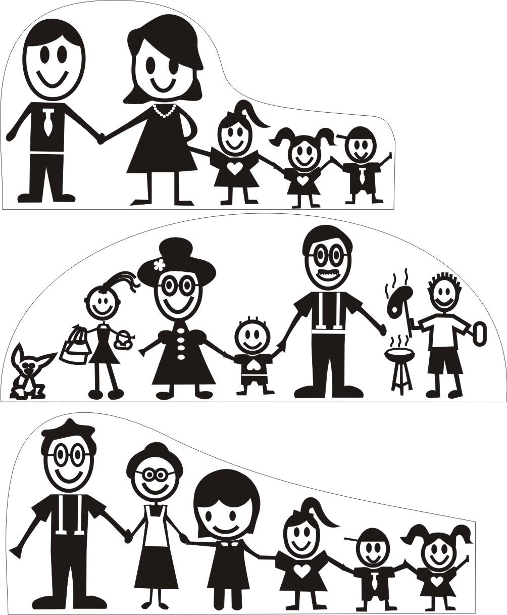 Artesanato Com Madeira Passo A Passo ~ Colorir e Pintar Família feliz