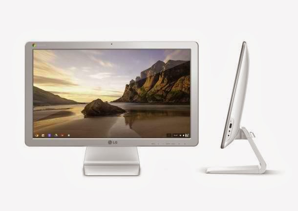 LG Chromebase front side view