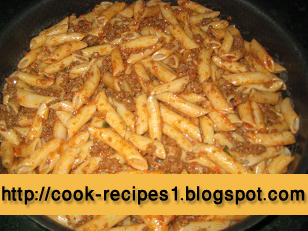 Pasta and Macaroni Recipes: Pasta Recipe With Meat and Tomatos