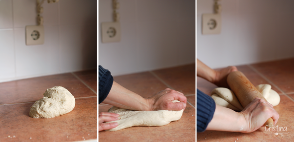 amasando pan bregado