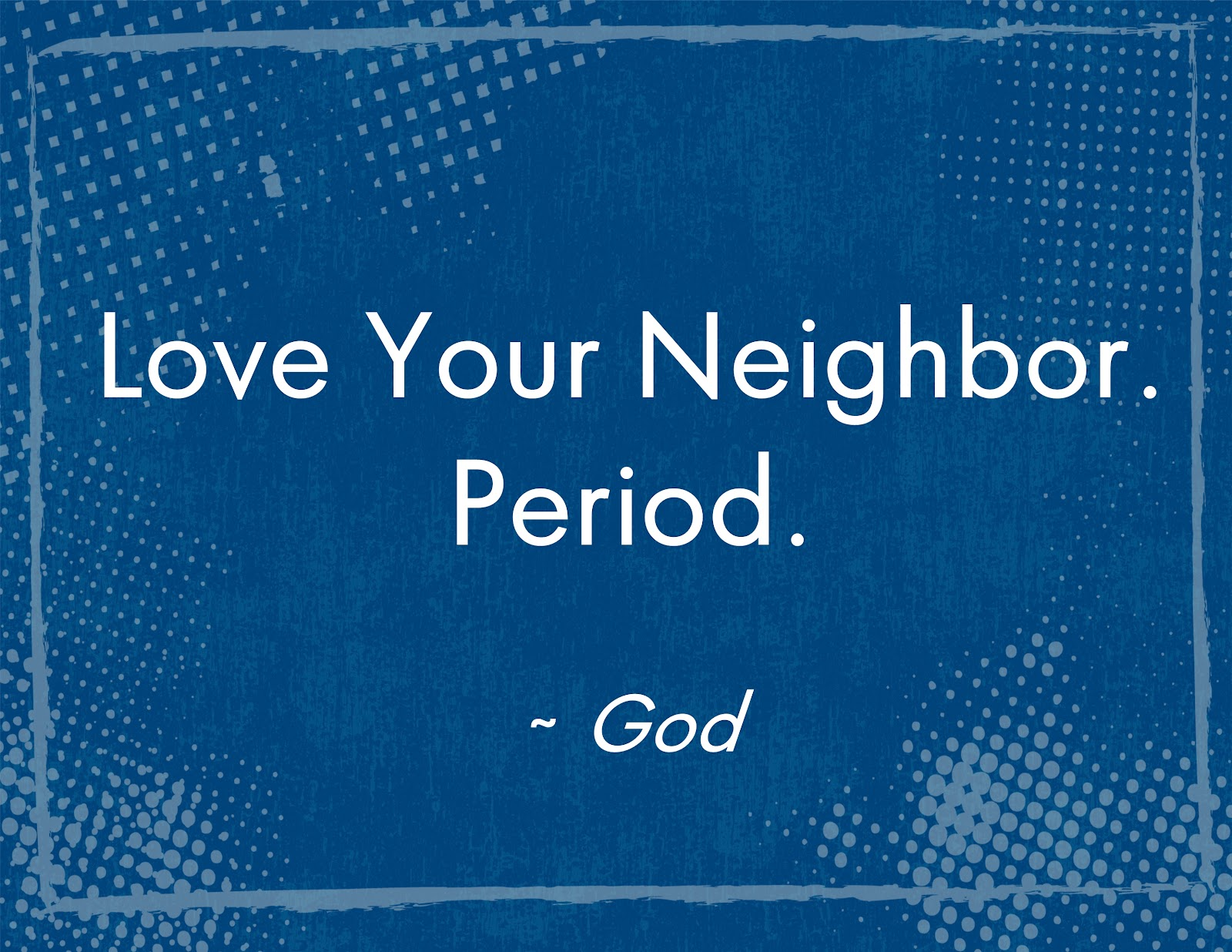Justinas Random Acts of Kindness: Love your neighbor...