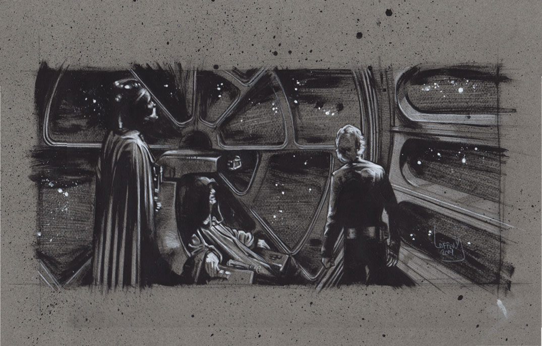 Luke Skywalker, Darth Vader and the Emperor, Artwork is Copyright © 2014 Jeff Lafferty