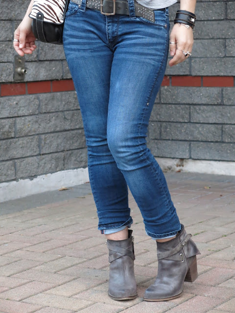 skinny jeans, Wishbone Collection booties, and accessories