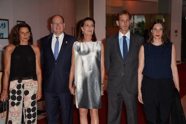 Prince Albert II of Monaco, Princess Caroline of Hanover, Princess Stephanie of Monaco, Andrea Casiraghi and his wife Tatiana Casiraghi, Camille Gottlieb and Pauline Ducruet and Louis Ducruet