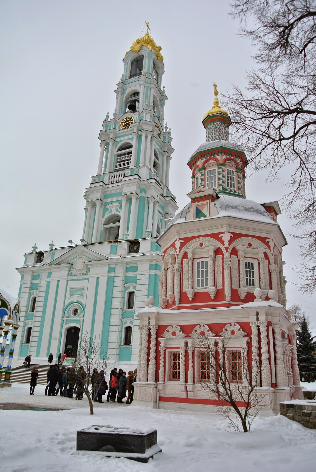 Cathedral and holy water at Sergiev Posad
