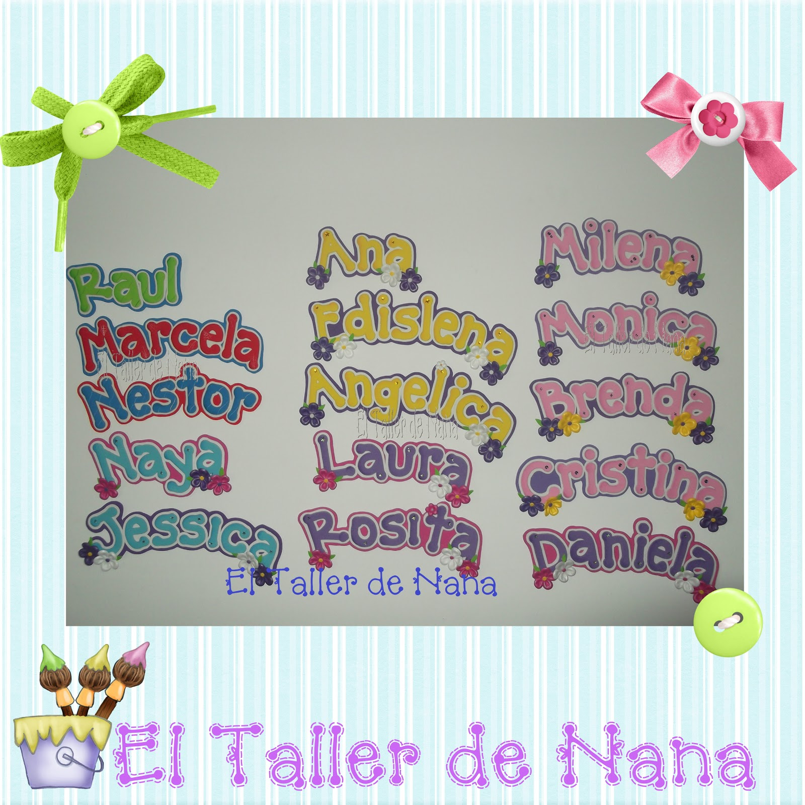 El Taller de Nana: Varios Nombres en Foami