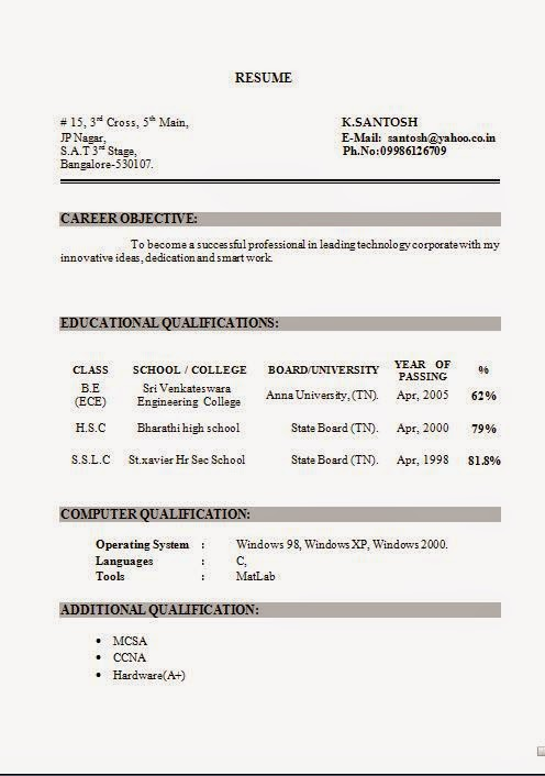 resume in word document