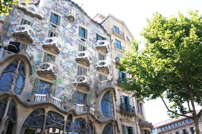 Façade de la Casa Batllo, oeuvre de Gaudi