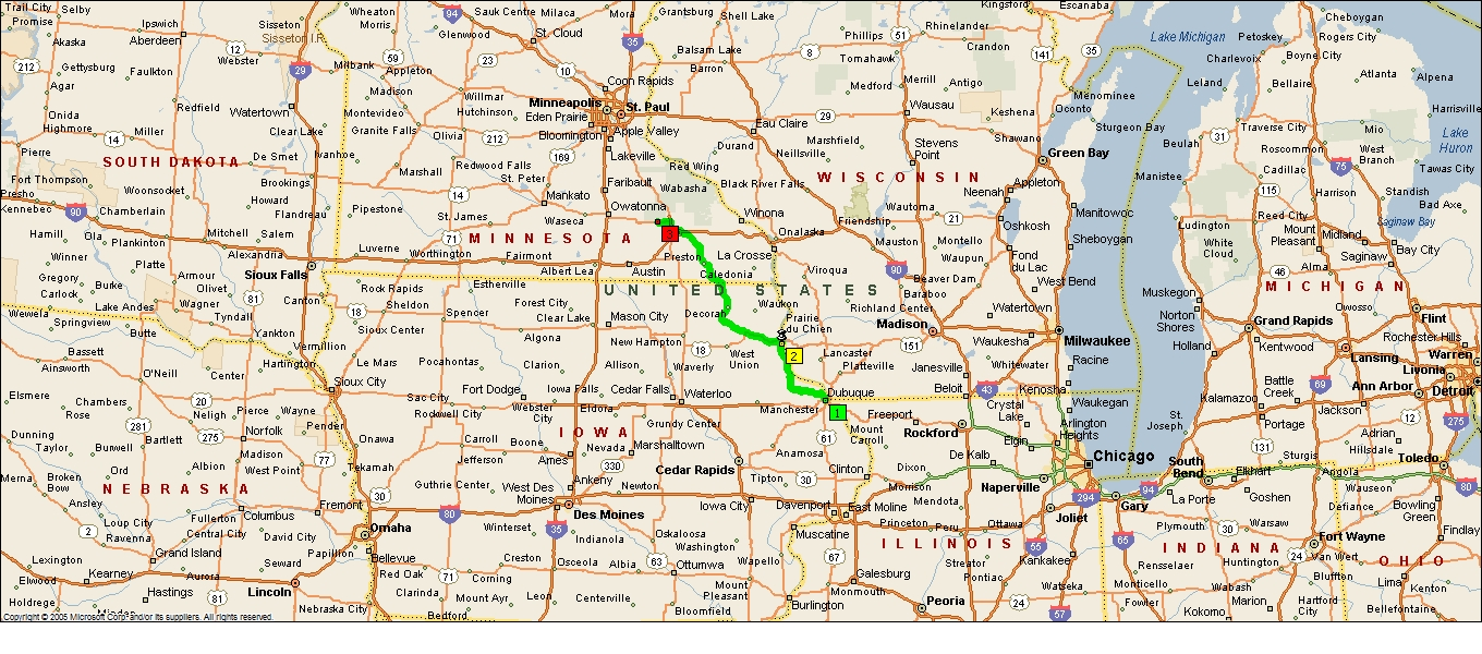 Roving Reports by Doug P 201320 Dubuque Iowa to Rochester Minnesota