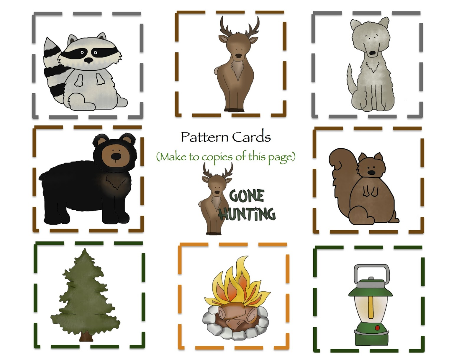 Preschool Printables: Camping Alphabet and Number Cards