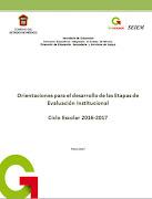 Orientaciones Evaluación Institucional 2016-2017