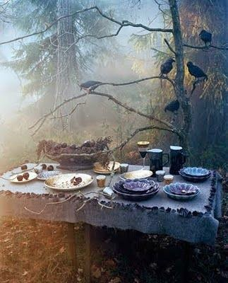 Samhain table - photo by  Denise Grustein
