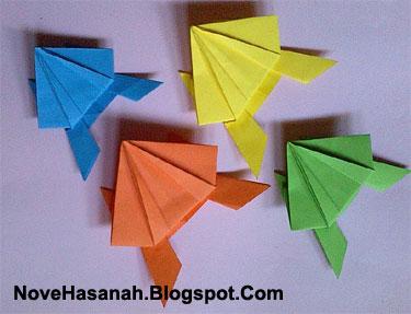 cara membuat origami yang mudah untuk anak TK, SD, dan pemula berbentuk katak kodok