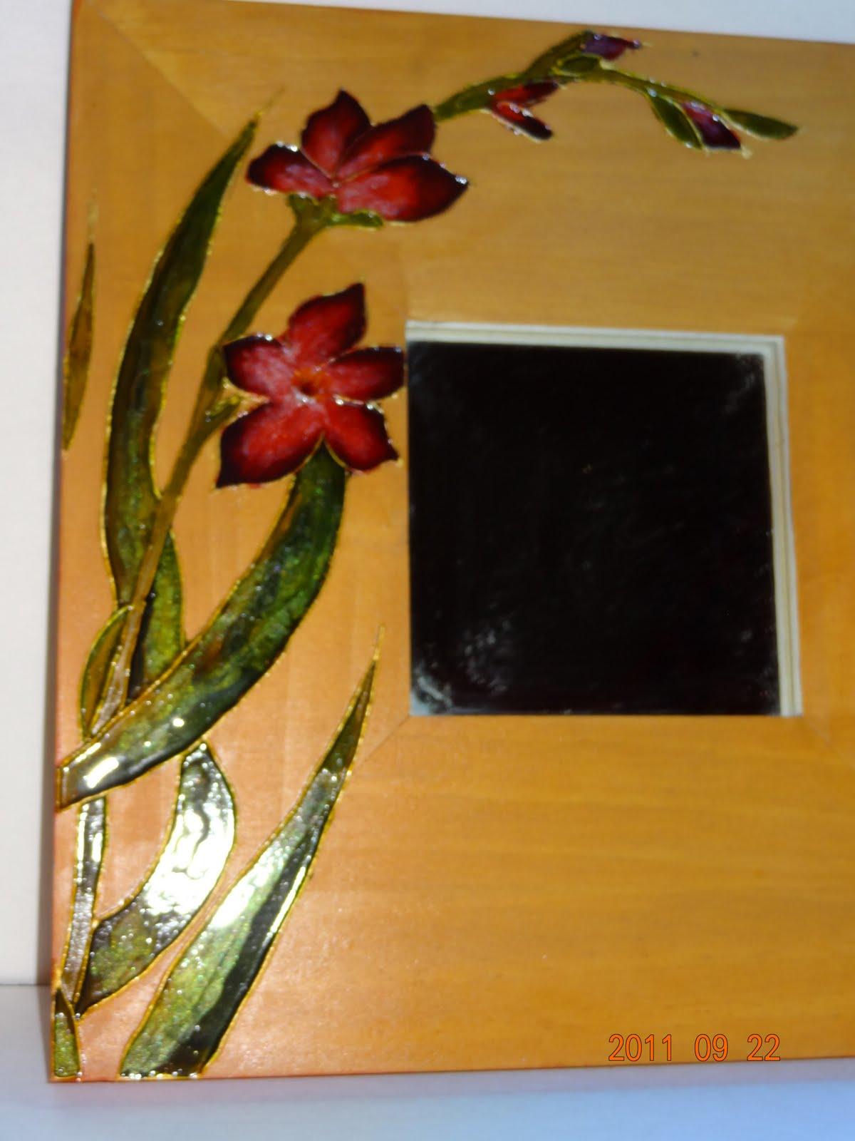 Kr ations karo miroir faux vitrail for Faux vitrail sur miroir